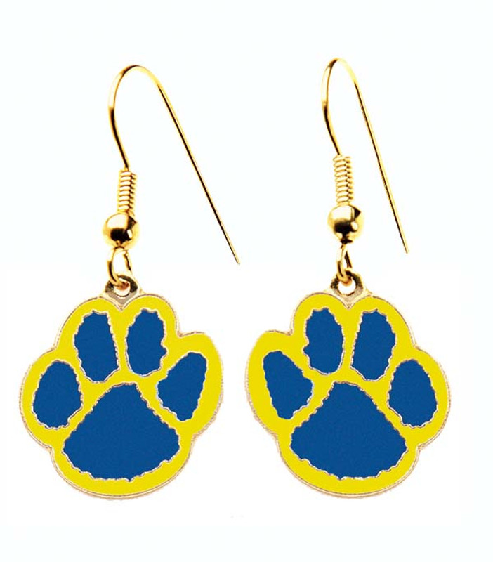 Paw Earrings Blue/yellow