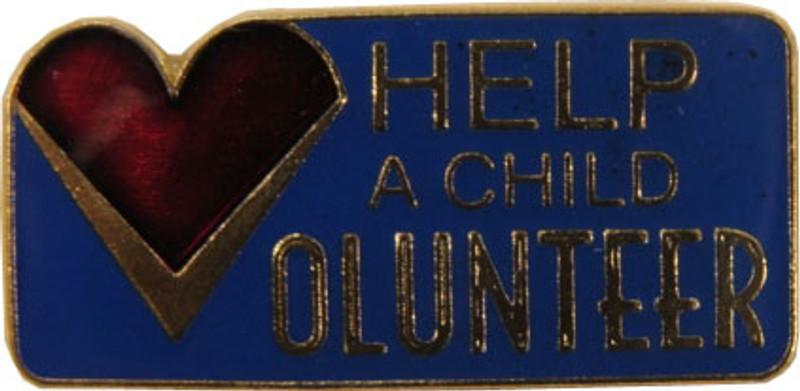 Help A Child Volunteer Lapel Pin