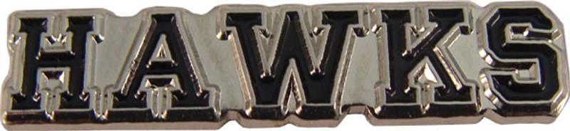 HAWKS (black) Lapel Pin