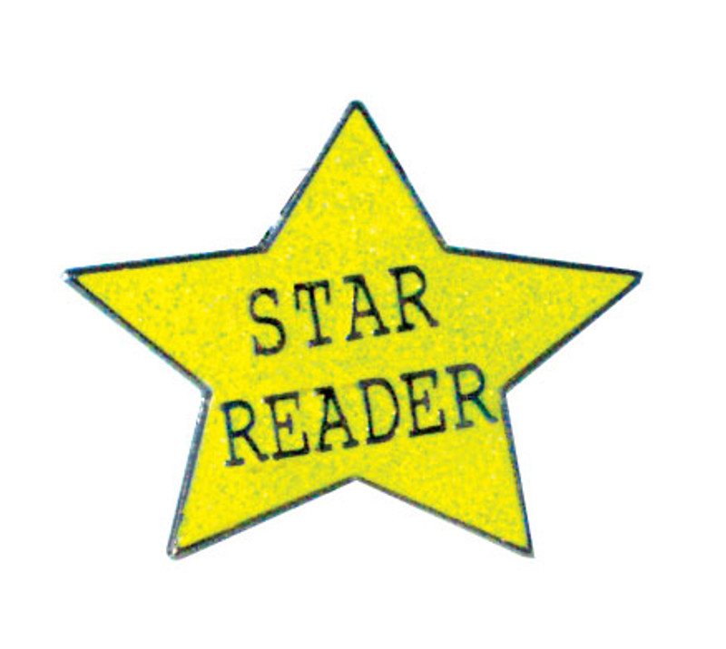 Glitter Star Reader Lapel Pin