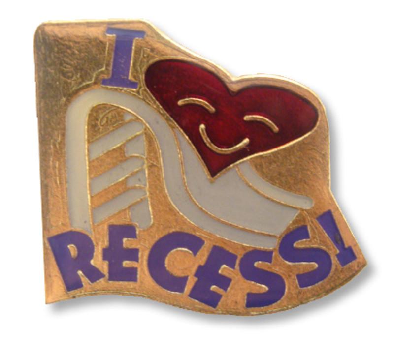I (heart) Recess! Lapel Pin