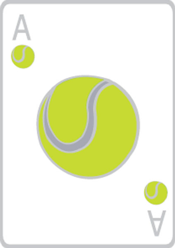 Ace Tennis Card Lapel Pin