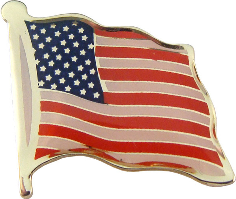 "US Flag 3/4"" Printed Lapel Pin"