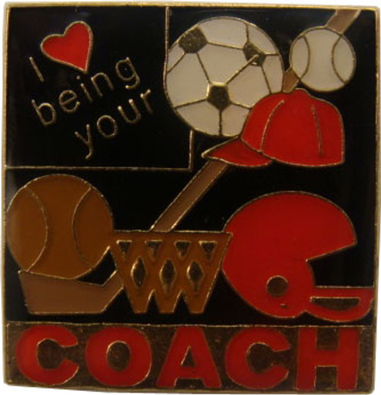 I (heart) Being Your Coach Lapel Pin