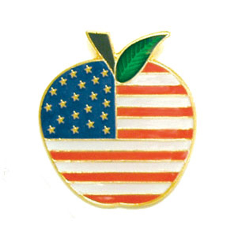 Apple Flag Lapel Pin