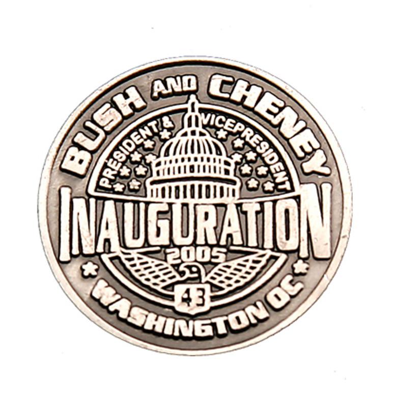 Bush and Cheney Inauguration Lapel Pin