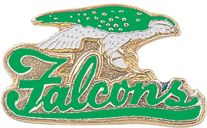 Falcons (Green) Lapel Pin