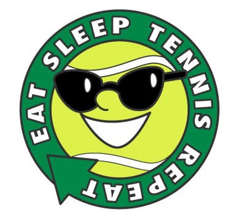 Eat, Sleep, Tennis, Repeat Lapel Pin
