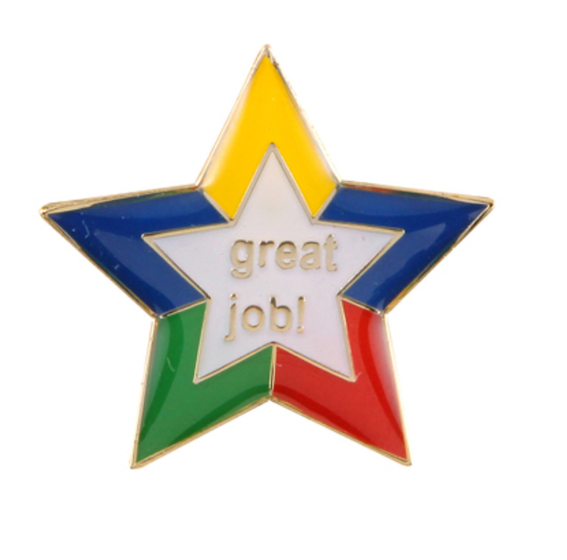 Great Job Star Lapel Pin