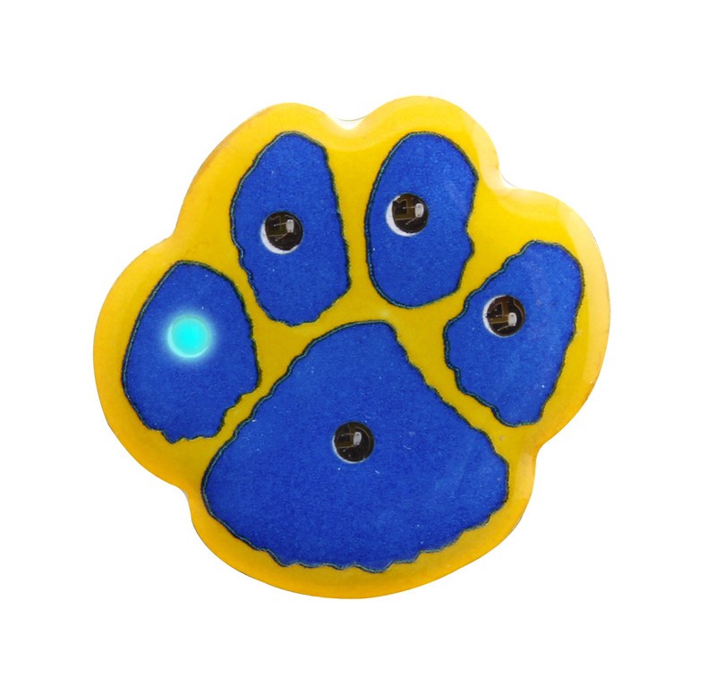 "PAW-LIGHT 1"" (Blue/Yellow) Lapel Pin"