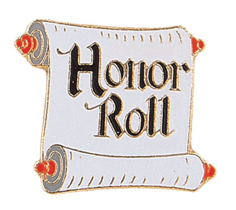 Honor Roll Scroll Lapel Pin