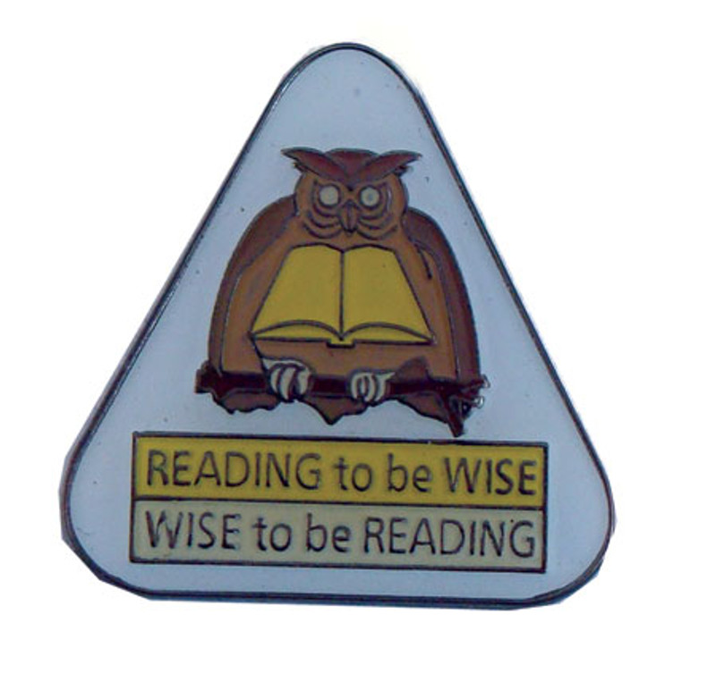 Reading to be Wise Wise to be Reading Lapel Pin