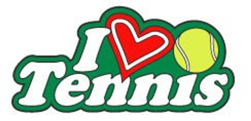 I (heart) Tennis Tennis with ball Lapel Pin