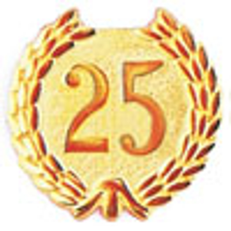 YEARS OF SERVICE 25 LAPEL PIN