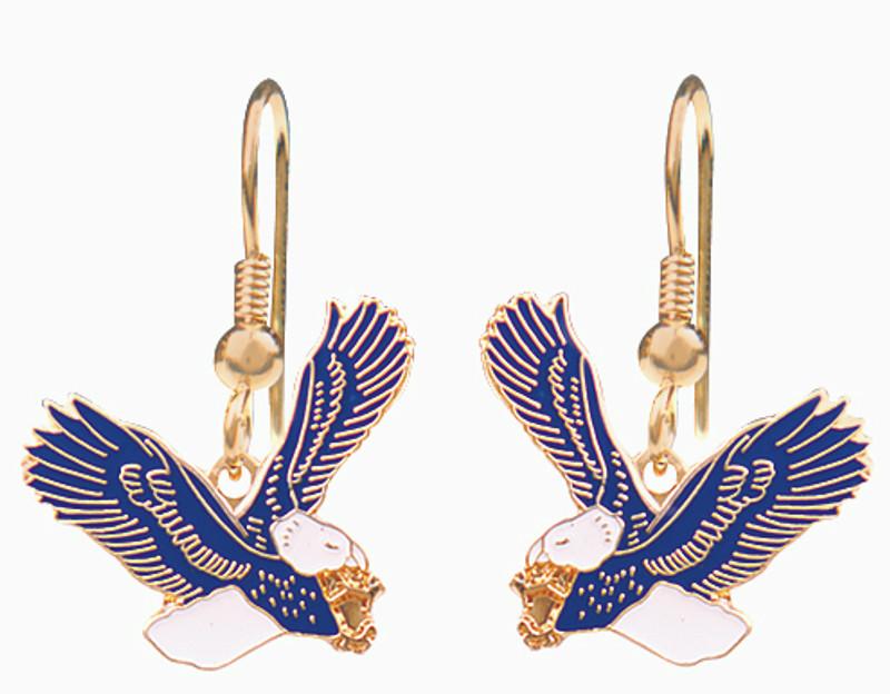 Blue & White Eagle Earrings