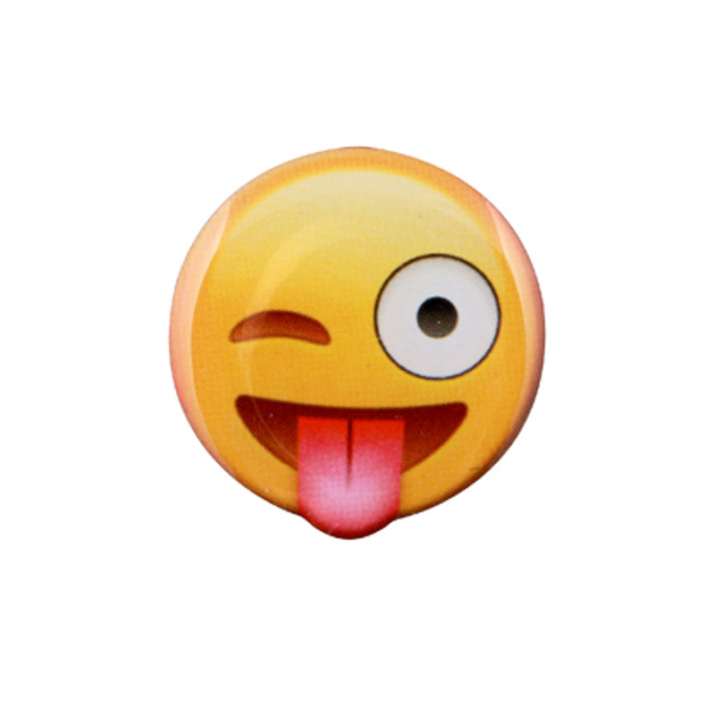 Smile with Tongue Emoji Lapel Pin