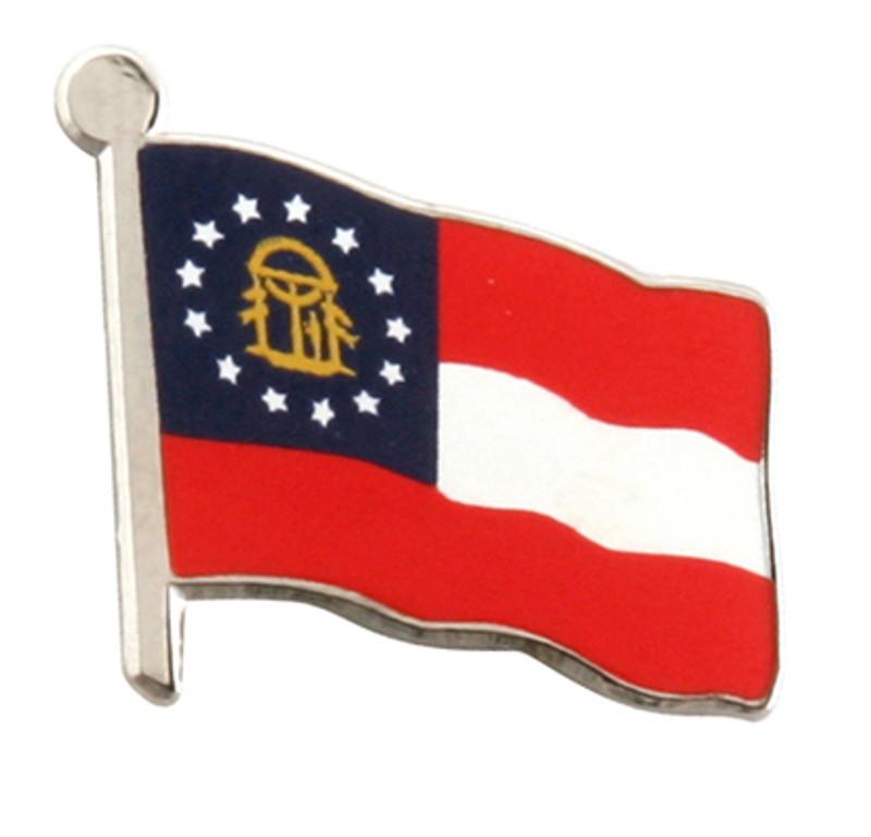 Georgia Flag Lapel Pin (in nickel)