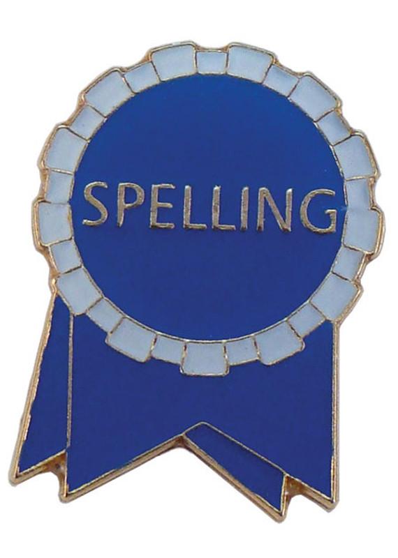 Spelling Ribbon (blue/white) Lapel Pin