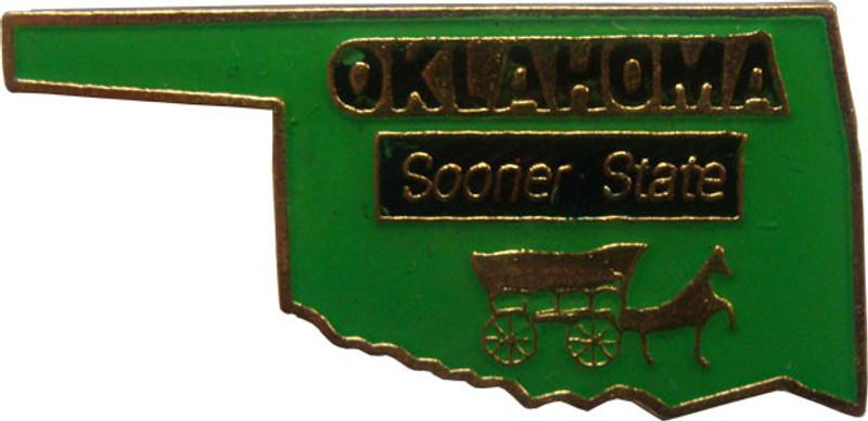 Oklahoma State Lapel Pin