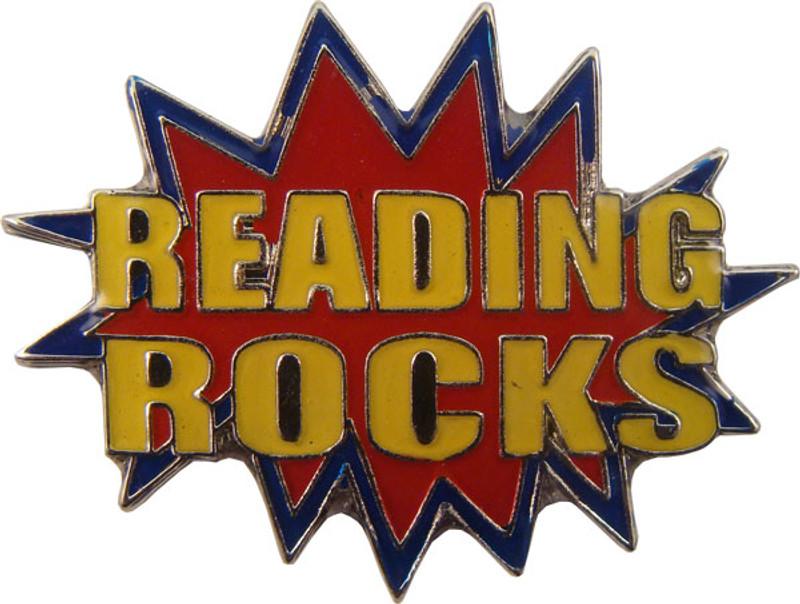 Reading Rocks in Red Lapel Pin