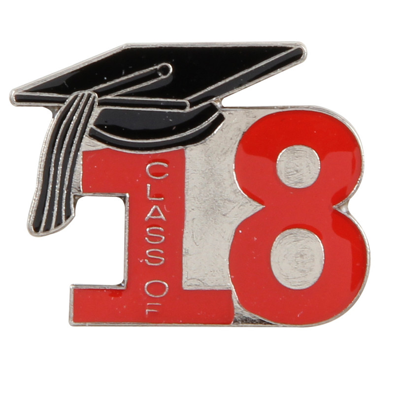 Class of 18' Red Lapel Pin