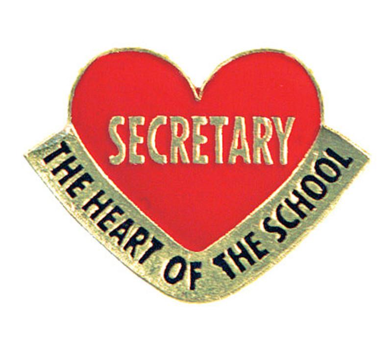 Secretary the Heart of the School Lapel Pin
