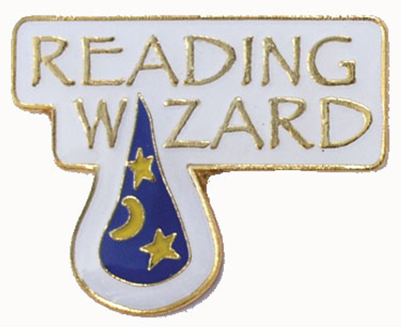 Reading Wizard Lapel Pin