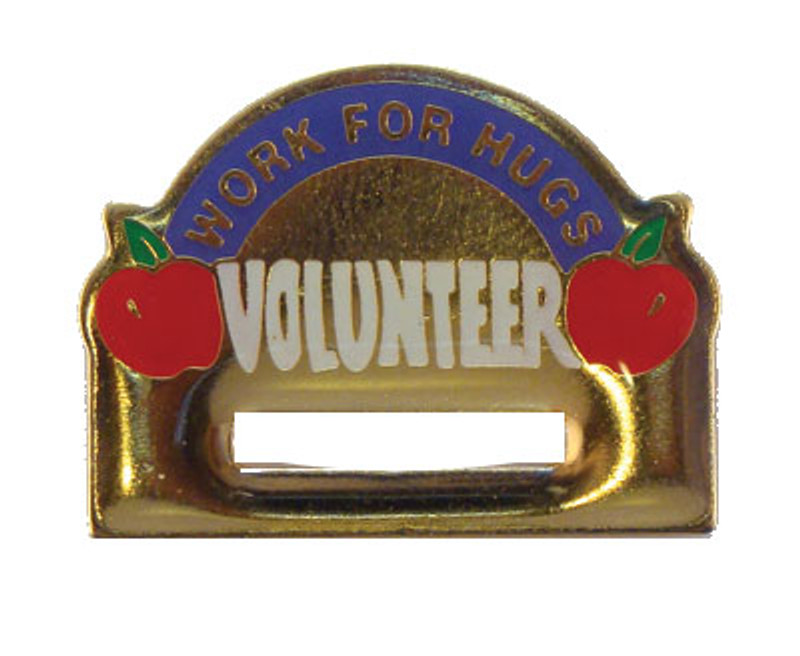 Volunteer Badge Holder Lapel Pin