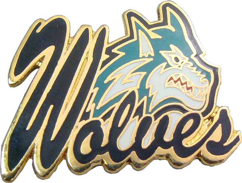 Wolves (green) Lapel Pin