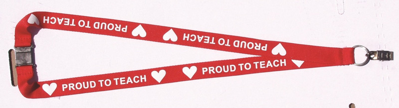 PROUD TO TEACH LANYARD - RED
