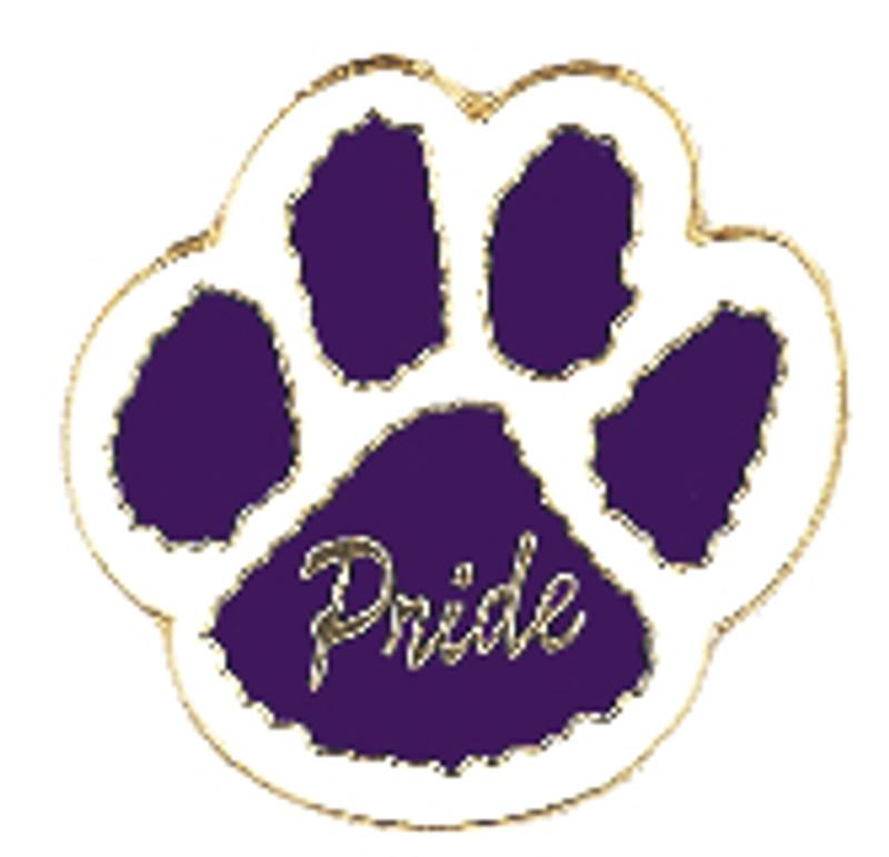 Paw Print - Pride (purple/white) Lapel Pin