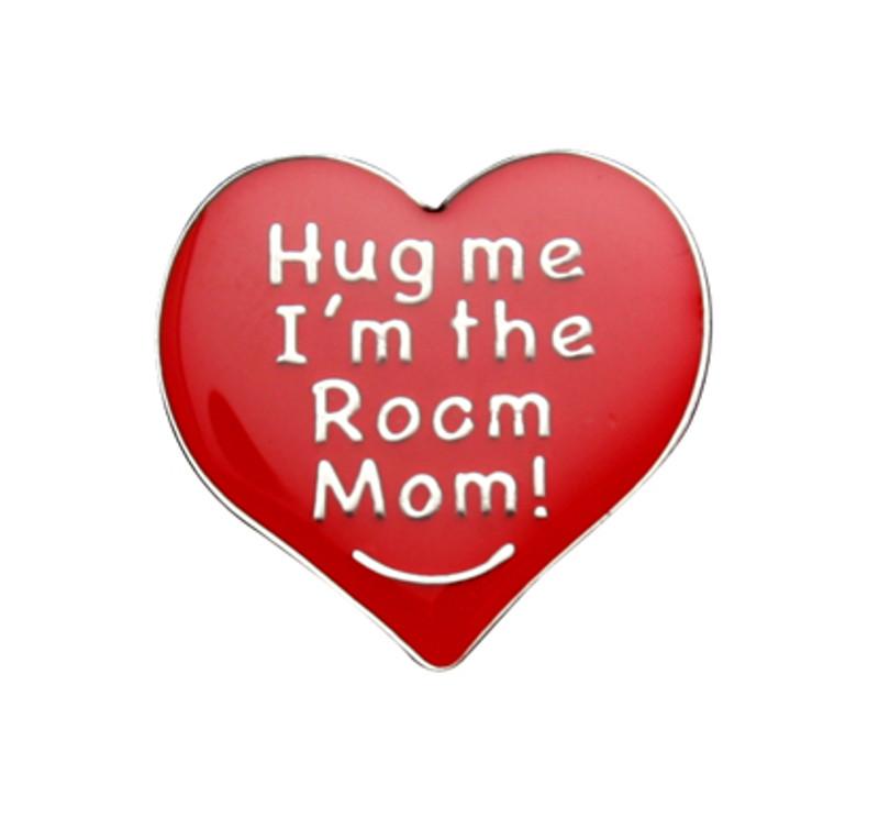 Hug Me I'm the Room Mom Lapel Pin