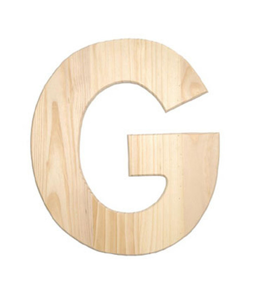 unfinished wood 12 in 2 in thick letter letter g