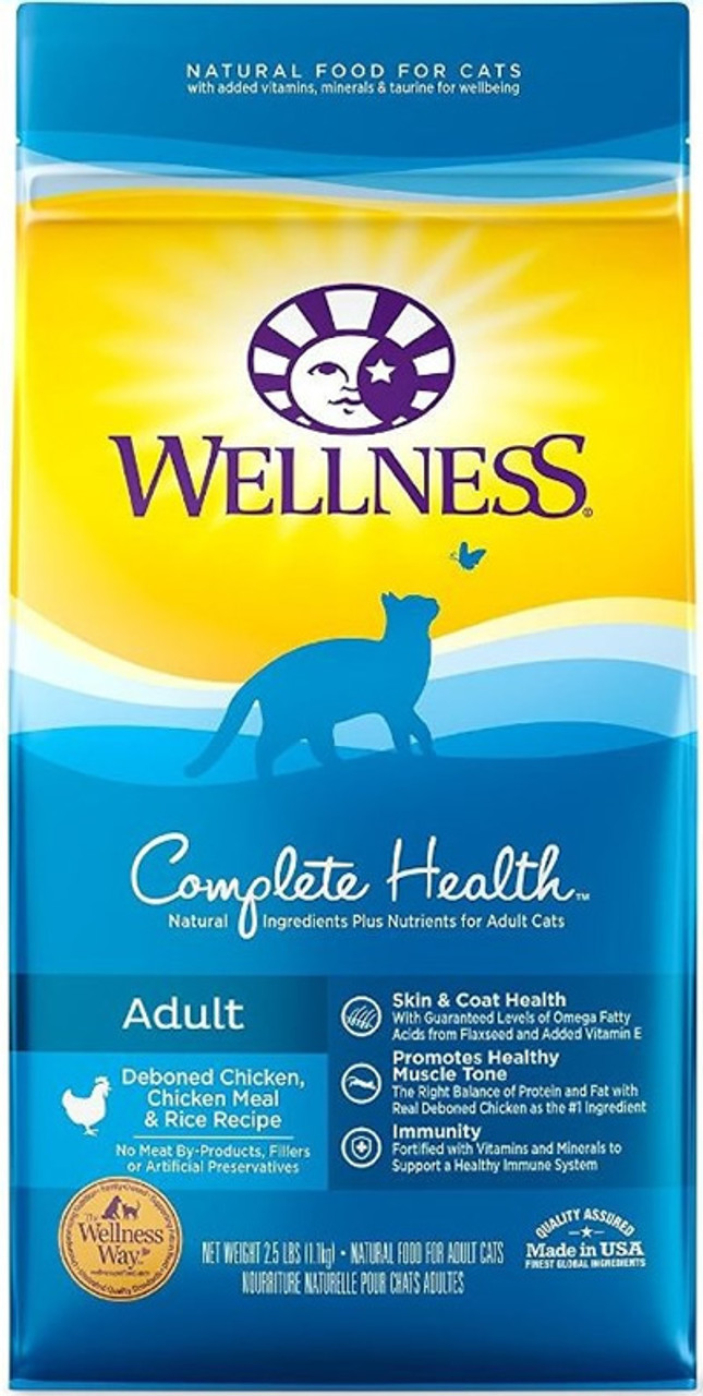 Wellness Complete Health Chicken Meal Rice Recipe Cat Food 25 Lb