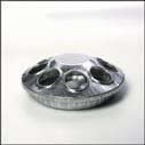 Galvanized Round Feeder 8 Hole, 6 Inch