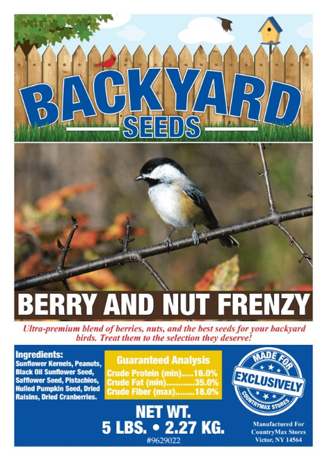 Backyard Seeds Berry 'n Nut Frenzy Bird Seed
