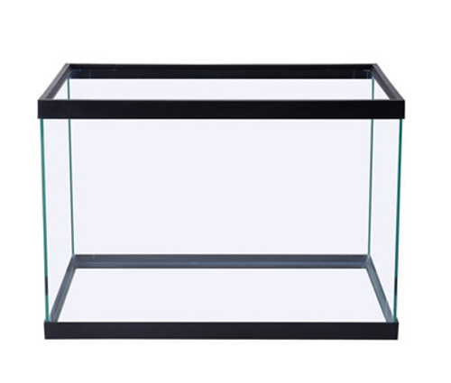 Black Aquarium Tank, 20H Gallon