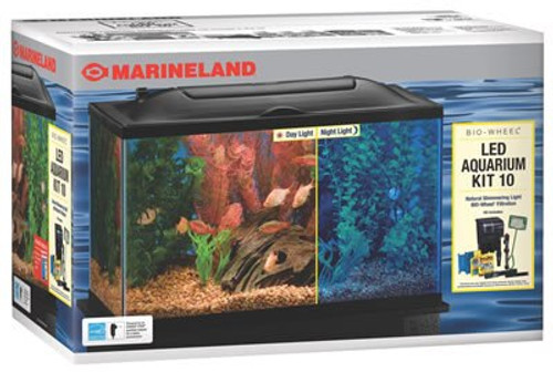 Marineland Bio-Wheel LED Aquarium Kit, 10 Gallon