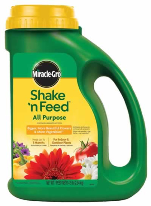 Miracle Gro Shake & Feed All Purpose Plant Food 4.5 lbs.