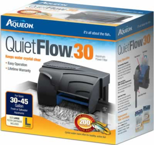 Aqueon QuietFlow Power Filter 30, 200 GPH