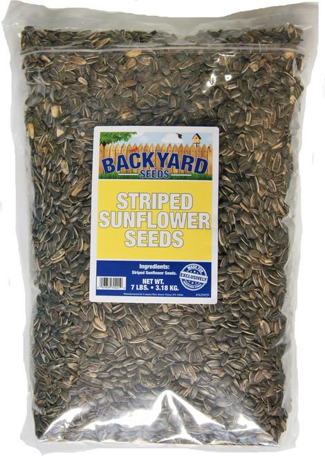 Backyard Seeds Striped Sunflower 7 Pounds
