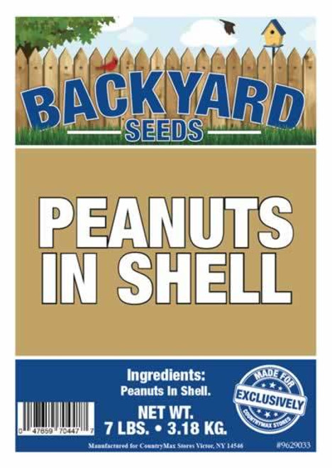 Backyard Seeds Raw Peanuts in the Shell 7 Pounds