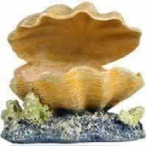 Tetra GloFish Clam Aquarium Ornament