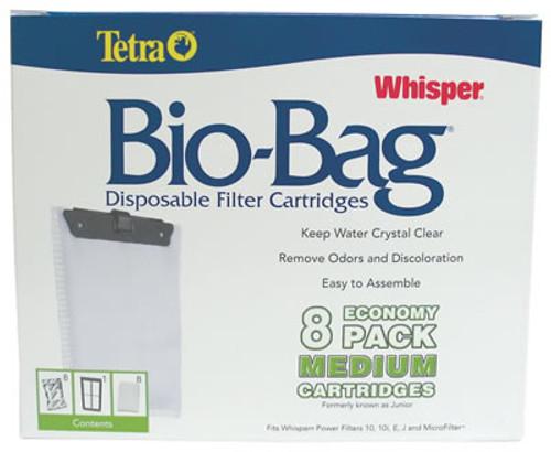 Whisper Bio Bag Filter Cartridge Medium, 8 Pack