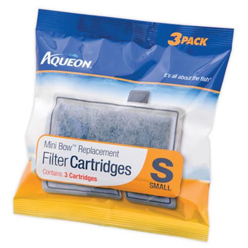 Aqueon Mini Bow Filter Cartridge Small, 3 Pack