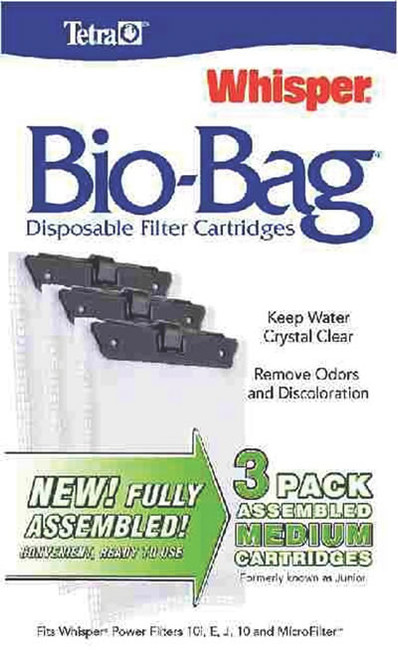 Whisper Assembled Bio-Bag Cartridges Medium, 3 Pack