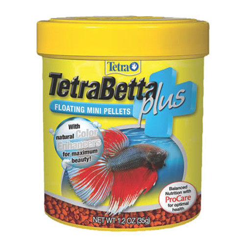 TetraBetta Plus Mini Pellets, 1.2 Oz.