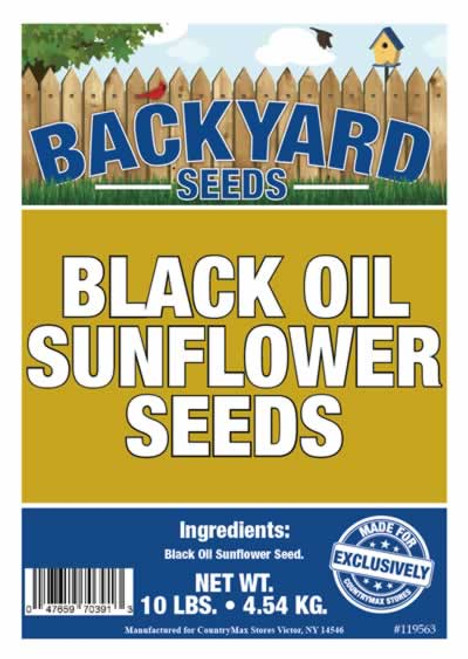 Backyard Seeds Black Oil Sunflower 10 Pounds