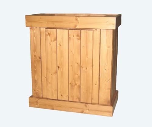 Pine Aquarium Stand & Cabinet With Oak Finish, 48 Inch x 18 Inch
