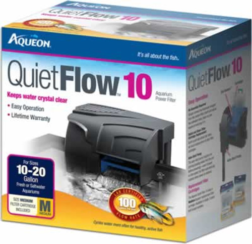 Aqueon QuietFlow Power Filter 10, 100GPH